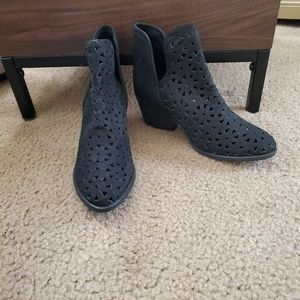 NEW Musse & Cloud Black Laser Cut Athena Booties